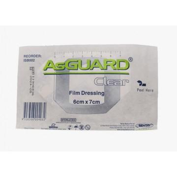 AsGUARD Clear Film Sterile Dressing - 6x7cm