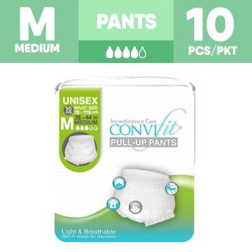 ConviFit Adult Pull Up Pants Unisex - M