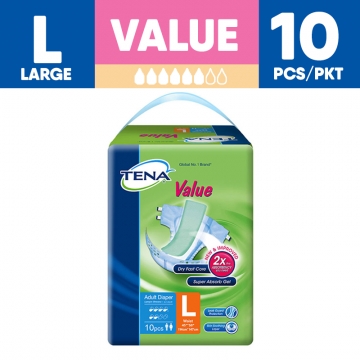 TENA Value Unisex Adult Diapers - L