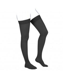 Venoflex Kokoon Thigh Stocking, Black (Closed Toe)