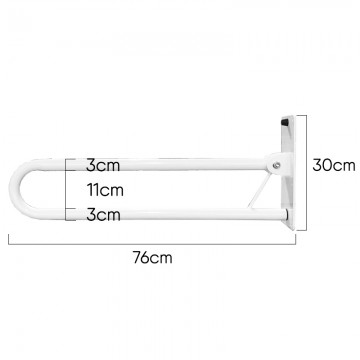 Flip Up Steel Grab Bar (Big)
