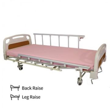 2 Crank Manual Hospital Bed