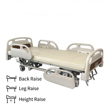 3 Crank Manual Luxury Hospital Bed