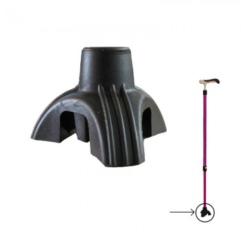 RC15 3-Legged Walking Stick Rubber Base