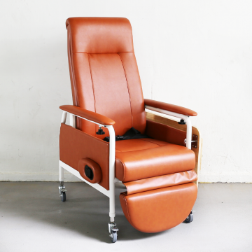 KW-WF Reclining Geriatric Chair (Steel, With Wheels and Footrest)