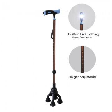 KJW123LC Built-In LED Light Walking Stick