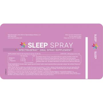 SpectraSpray - Sleep Support Spray Supplement