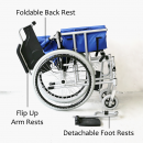 FS908 Detachable Wheelchair