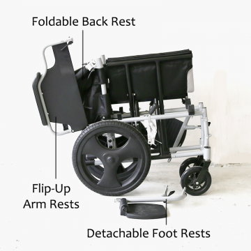 KY907 Detachable Wheelchair
